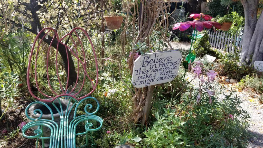 Fairy garden sign.