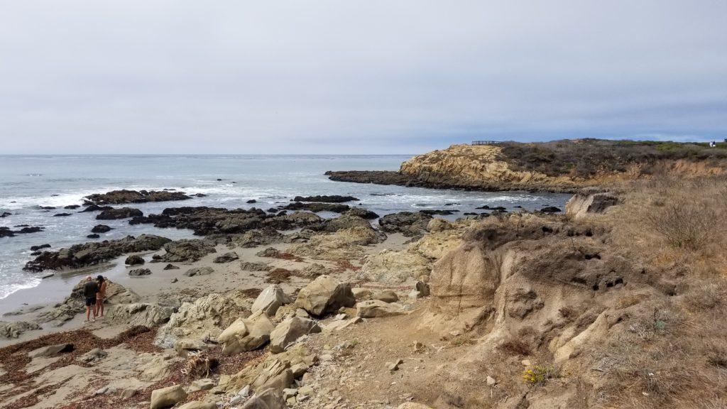 Ocean and rocks.