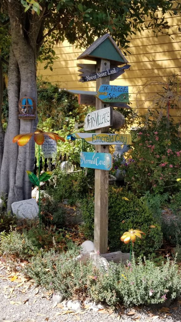 Signs in the garden