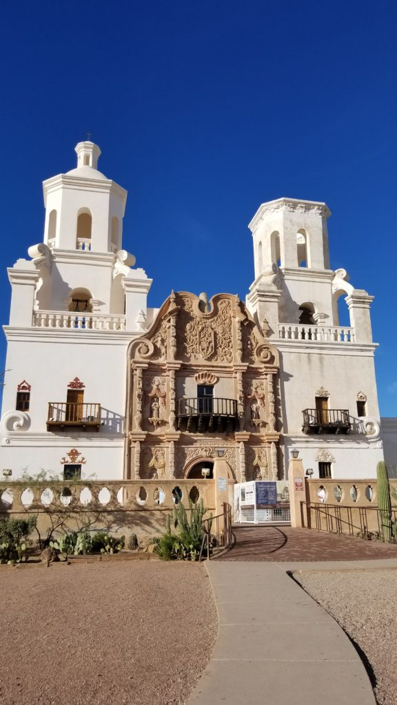 San Xavier mission in Tucson.