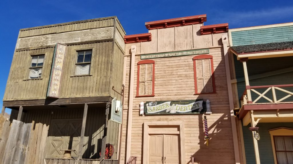 Old west store fronts.