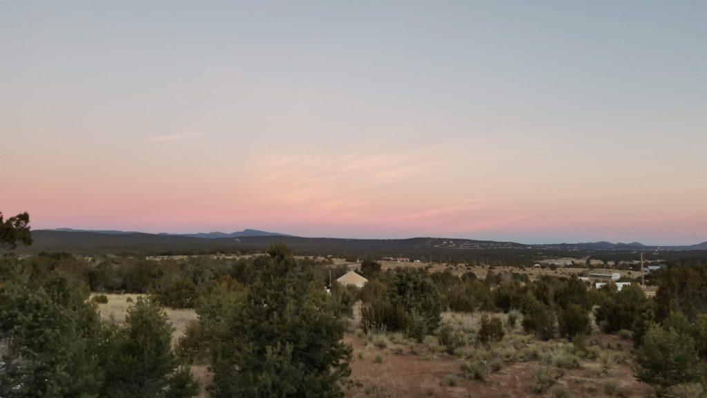 Pink rimmed sky