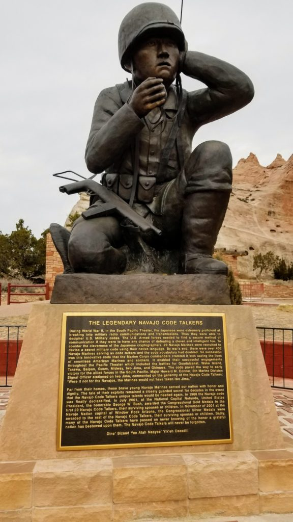 Navajo Code Talkers monument