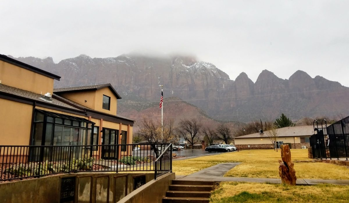 On a Rainy Day in Zion