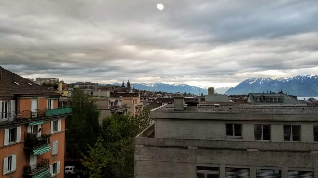 Buildings with Mountains in the background