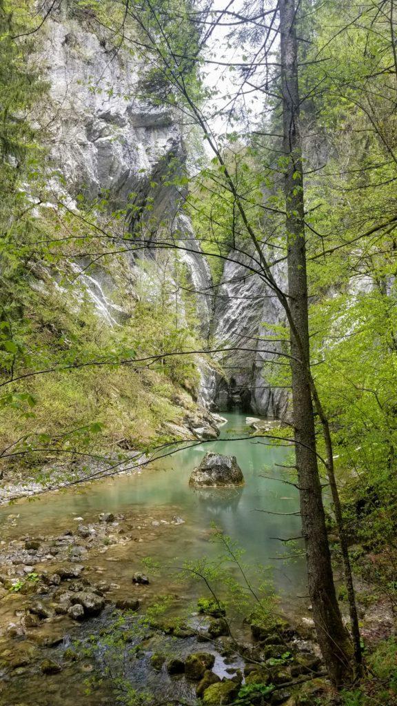 A river running through rock