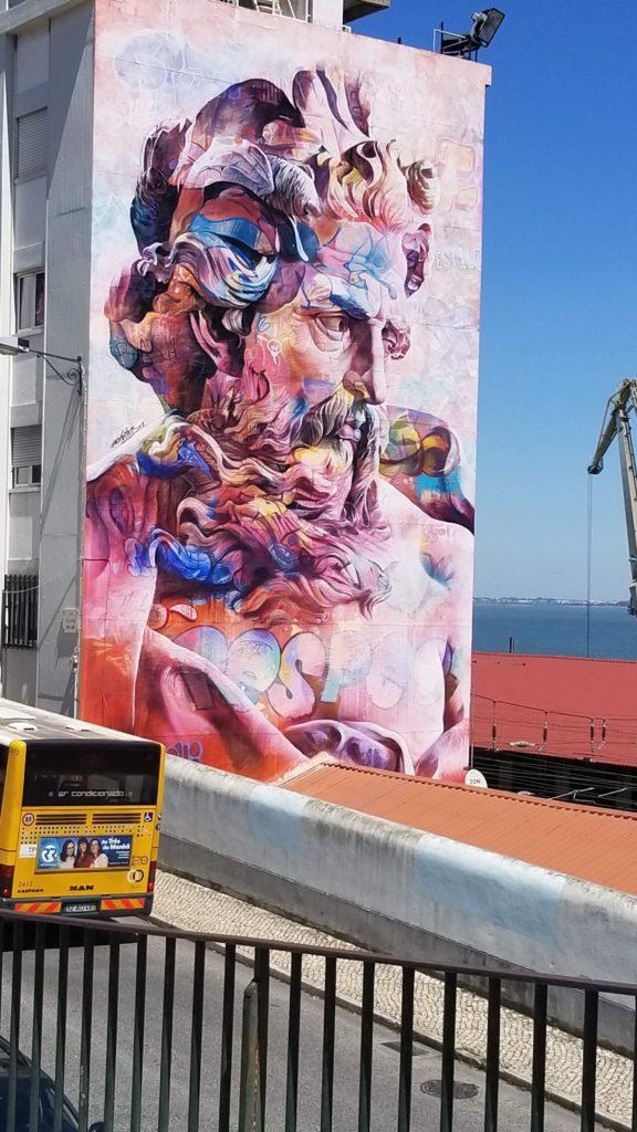 mural along a walk