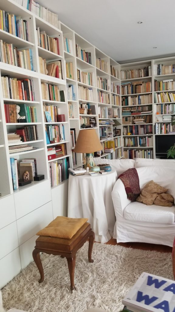 Book lined living space