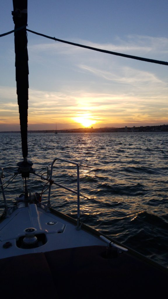 Sunset from a sailboat