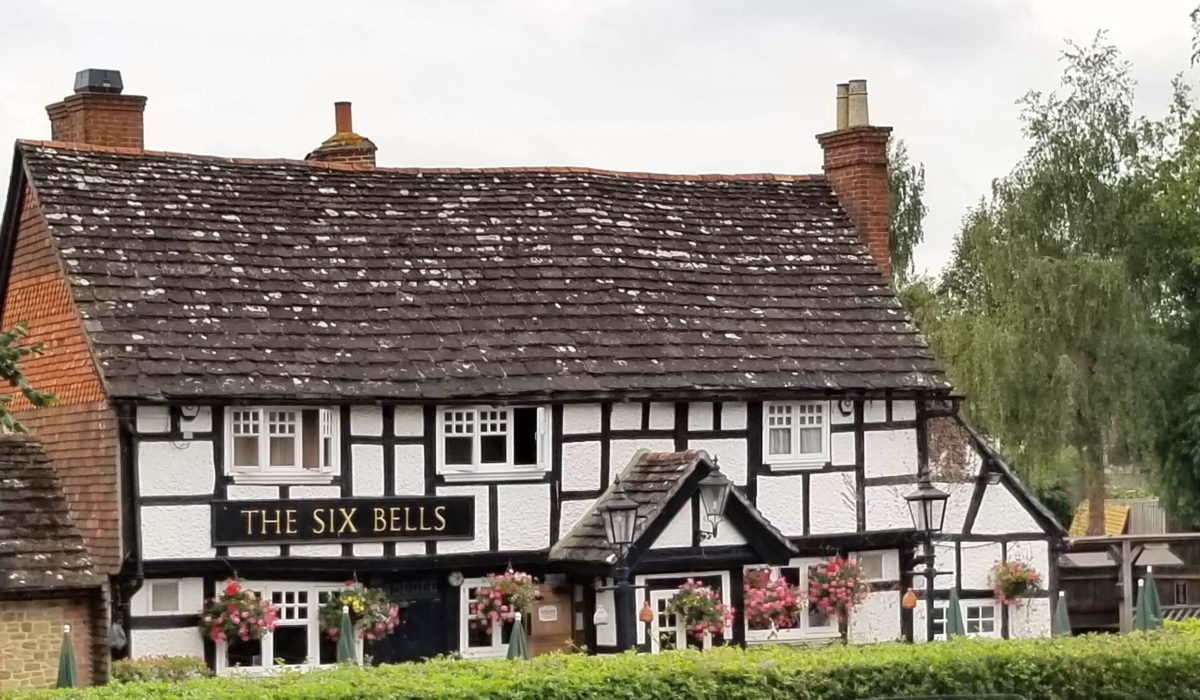 The Six Bells pub from the High Street