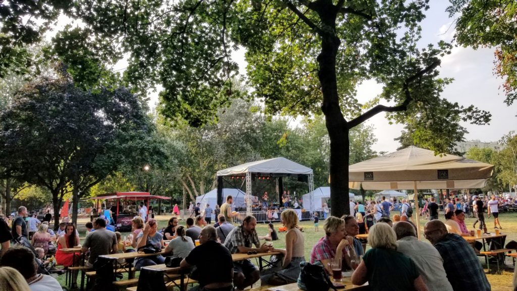 Burgers, blues, and beers festival grounds