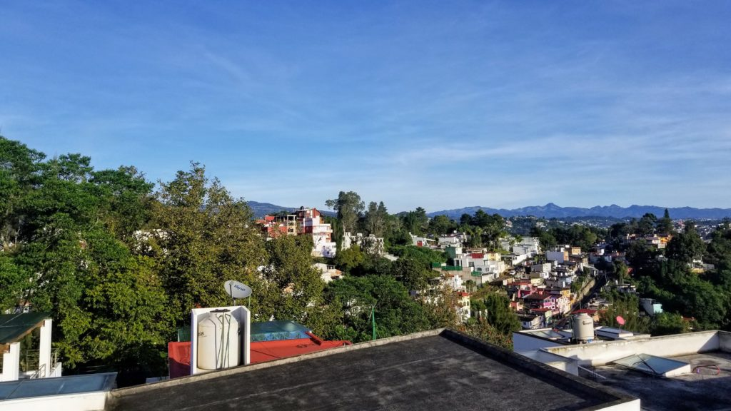 View of Xalapa from the roof.