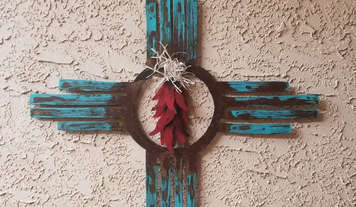New Mexico Cross Symbol