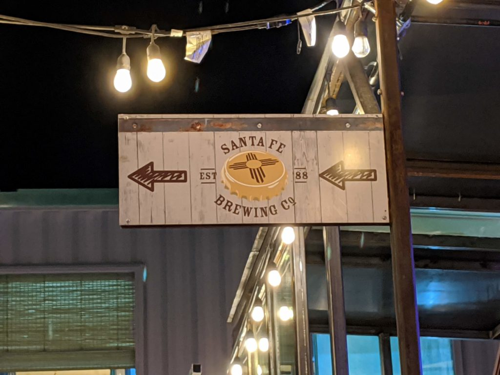 Santa Fe Brewing Sign